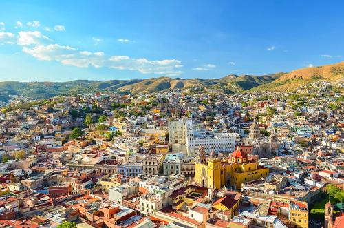Cores e formas de Guanajuato , vista do mirante da cidade de Gua